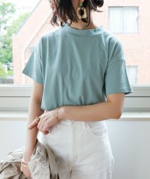 and Me.../コットンモックネック半袖Tシャツ/503413376