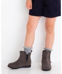 BeBe/サイド ゴア スウェード フリル ブーツ (16cm~20cm )/503413599