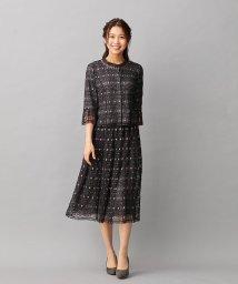 Leilian/刺繍×チュールレイヤードスーツ/503392755