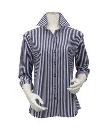 BRICKHOUSE/シャツ 七分袖 形態安定 スキッパー衿 ピマ綿100% ウィメンズ/503414223