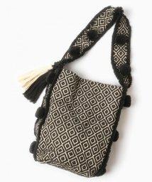 WYTHECHARM/手織りジャガードショルダーバッグ(ダイヤモンド柄)/503416135