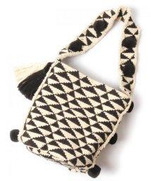 WYTHECHARM/手織りジャガードショルダーバッグ(トライアングル柄)/503416137