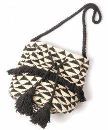 WYTHECHARM/手織りジャガード巾着バッグ(トライアングル柄)/503416140