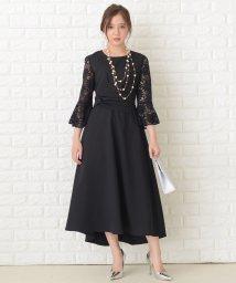 Lace Ladies/レース袖ロング丈ワンピース・ドレス/503355847
