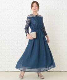 Lace Ladies/レースとシフォン素材ロング丈 ワンピース・ドレス/503355848