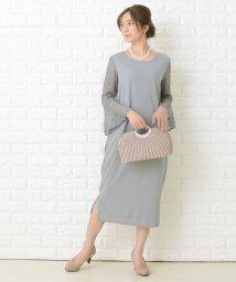 Lace Ladies/フレアレース長袖フォーマルロングワンピース・ドレス/503355850