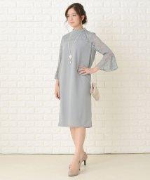 Lace Ladies/ハイネックレースフレア袖Iラインワンピース・ドレス/503355852