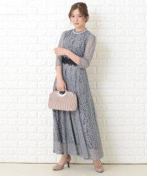 Lace Ladies/花柄総レースロング丈フレアワンピース・ドレス/503355855