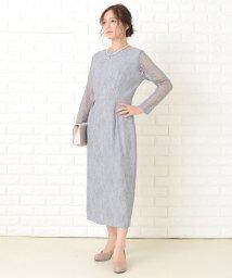 Lace Ladies/レース袖ミモレ丈総レースワンピース・ドレス/503355858