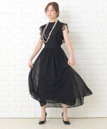 Lace Ladies/フリルノースリーブロングパーティドレス・ワンピース/503355860