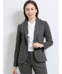 m.f.editorial/ストレッチウォッシャブル ポンチ1ボタンジャケット+パンツ グレー/503417615
