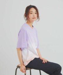 Rouge vif la cle/【JILKY】VネクグラデーションTシャツ/503417871