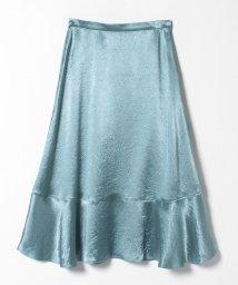 LANVIN en Bleu/サテンフレアースカート/503344933