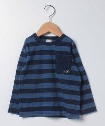 petit main/胸ポケットインディゴTシャツ/503408199