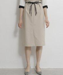 TONAL/【セットアップ対応商品】 ベルト付ハイウェストタイトスカート/503412344