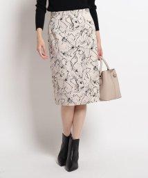 COUP DE CHANCE/【洗える】フラワータイトひざ丈スカート/503420215