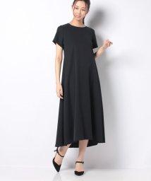 Leilian/半袖シフォンワンピース/503378099