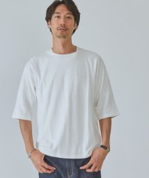 green label relaxing/SC ガーター ボートネック 5分袖 Tシャツ カットソー/503387317