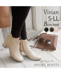 Vivian/ソフトスクエアトゥショートブーツ/503422610