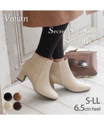 Vivian/シークレットサイドゴアショートブーツ/503422613