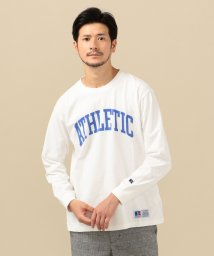 SHIPS MEN/RUSSELL ATHLETIC×SHIPS: 別注 ユーズド加工 プリント ロンT/503422879