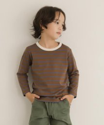 URBAN RESEARCH DOORS(Kids)/【WEB/一部店舗限定サイズ】オーガニックボーダーロングTシャツ(KIDS)/503423337