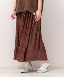 Rouge vif la cle/レザーライクサテンギャザースカート【予約】/503423561