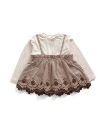 Seraph /裾刺繍レイヤード長袖Tシャツ/503267541