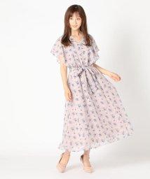 MISCH MASCH/バタフライ袖花柄ワンピース/503334038