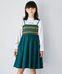 green label relaxing (Kids)/【ジュニア】シャーリングワンピース/503406012