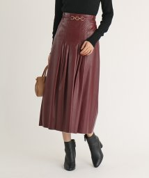 SCOTCLUB/FENNEL(フェンネル) ウエストベルトエコレザースカート/503419881