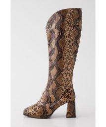 SLY/●VEGAN LEATHER KNEE ブーツ/503424068