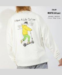 1111clothing/ビッグtシャツ メンズ 長袖tシャツ レディース ビッグシルエット 長袖 tシャツ くすみカラー ロンt ゆったり プリント ロゴ tシャツ 大きめ ロング/503424773
