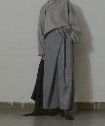 miette/デザインバックルアシメタックワイドパンツ/503424775