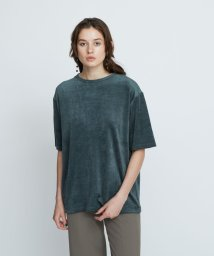 BEAUTY&YOUTH UNITED ARROWS/【予約】BY ベロアビッグTシャツ -ウォッシャブル-/503424924