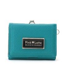 PINK-latte/角シボがま口二つ折り財布/503425629