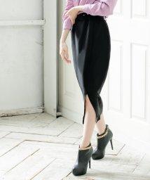 Julia Boutique/ベルト付きスリットタイトスカート/20514 レディース ボトムス スカート スリットスカート 膝丈 ベルト セット/503425688