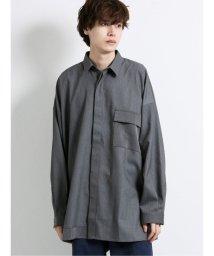 semanticdesign/ストレッチ クレイジーレギュラーカラー長袖BIGシャツ/503425881