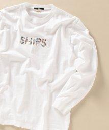 SHIPS MEN/WEB限定: SHIPS モチーフ ロゴ ペイズリー/フラワー/カモ柄 ロングスリーブ Tシャツ/503427402