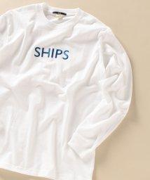 SHIPS MEN/WEB限定: SHIPS ロゴ エンブロイダリー ロングスリーブ Tシャツ/503427403