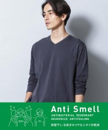 nano・universe/《イヤな臭いを軽減》Anti Smell VネックロングスリーブTシャツ/503322169