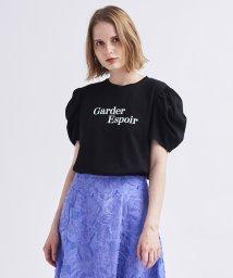 LANVIN en Bleu/ロゴプリントパワーショルダーTシャツ/503371473