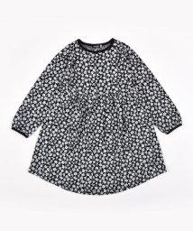 BeBe/花柄 ジャガード ラウンドヘム ギャザー 裾ライン ワンピース(80cm~140cm/503395141