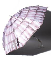 """LANVIN en Bleu(umbrella)/LANVIN en Blue (ランバンオンブルー) 晴雨兼用傘 """"スカラ刺繍 フリル""""/503415350"""