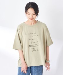 OLIVE des OLIVE/バックレースアップ線画きプリントTシャツ/503417039