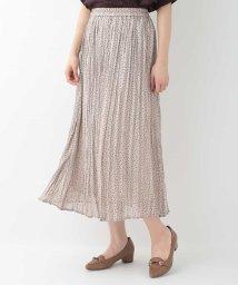 OFUON/【洗える】ラメストライプドットスカート/503361573