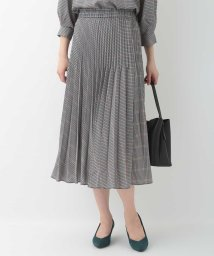 OFUON/【洗える】ガンクラブチェックプリーツスカート/503404980