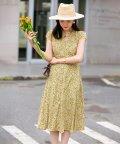 SAISON DE PAPILLON/花柄フレンチスリーブワンピース/503411691