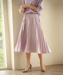 SAISON DE PAPILLON/ウエストゴムプリーツスカート/503412311