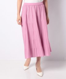LAPINE BLANCHE/【セットアップ対応】14G天竺 配色ニットスカート/503422900